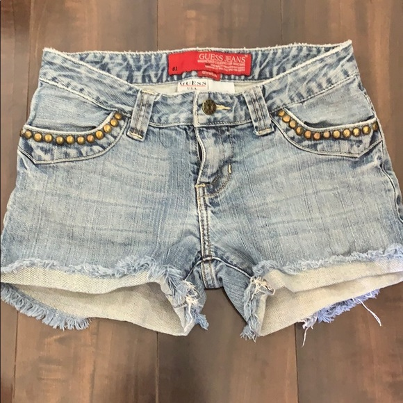 Guess Pants - Guess distressed studded shorts